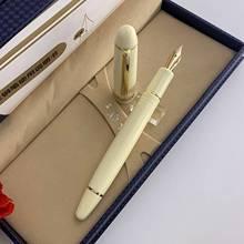 2021 ivory Wingsung 628 Screw Resin Fountain Pen #26 14K Solid Gold EF/F Nib Stationery Office school Writing pens