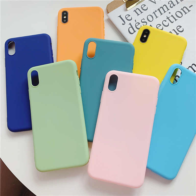 Candy Color Soft TPU Phone <font><b>Case</b></font> For <font><b>Vivo</b></font> Z5X V11i V15 Y7S Y3 Y17 S1 <font><b>Y95</b></font> U1 Y55 X27 Y97 Y85 V9 Y93 Y83 Y75 Y79 Y71 Y67 Y66 X9 X9S X20 V7 Plus Silicon Cover image
