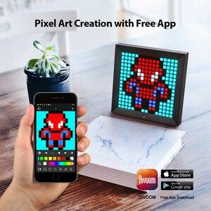 Image 2 - Divoom Pixoo dijital fotoğraf çerçevesi çalar saat ile piksel sanat programlanabilir LED ekran, Neon işık burcu dekor, yeni yıl hediye 2021