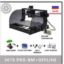 آلة حفر CNC 3018 PRO BM Laser للحفر على الخشب, وحدة تحكم بدون الاتصال بالانترنت GRBL ER11 DIY آلة حفر للخشب PCB PVC