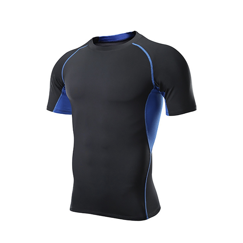 Hot Sale Short Sleeve T-Shirt Men O Neck Quick Drying Casual Tight Tee Tops Fitness Apparel Sportswear