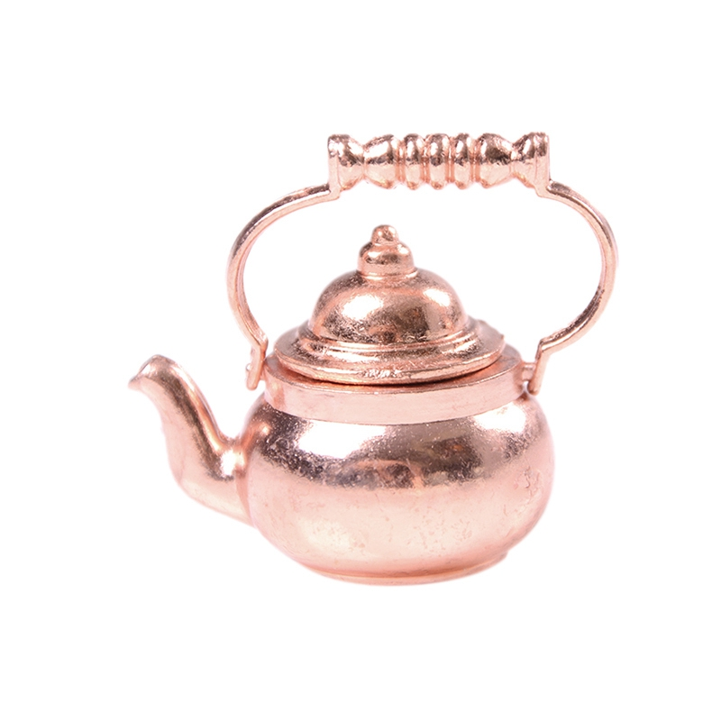 1:12 Handmade Toy House Children'S Play House Copper Teapot Kettle Toy Doll Furniture Accessories Children'S Toys