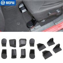 Mopai molduras interiores para jeep wrangler jk frente do carro assento traseiro parafuso capa de proteção para jeep wrangler jk 2007-2017