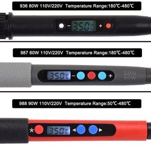 Image 2 - NEWACALOX 110 فولت/220 فولت LCD الرقمية الكهربائية سبيكة لحام 60 واط/80 واط/90 واط قابل للتعديل NC ترموستات لحام محطة لحام إصلاح