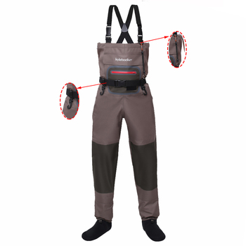 Fly Fishing Waders Duck Hunting Stockingfoot Chest Wader Outdoor Breathable Wading Pants high jump camouflage fishing waders 0 7mm pvc breathable waterproof chest fishing wader unisex dichotomanthes end fishing waders