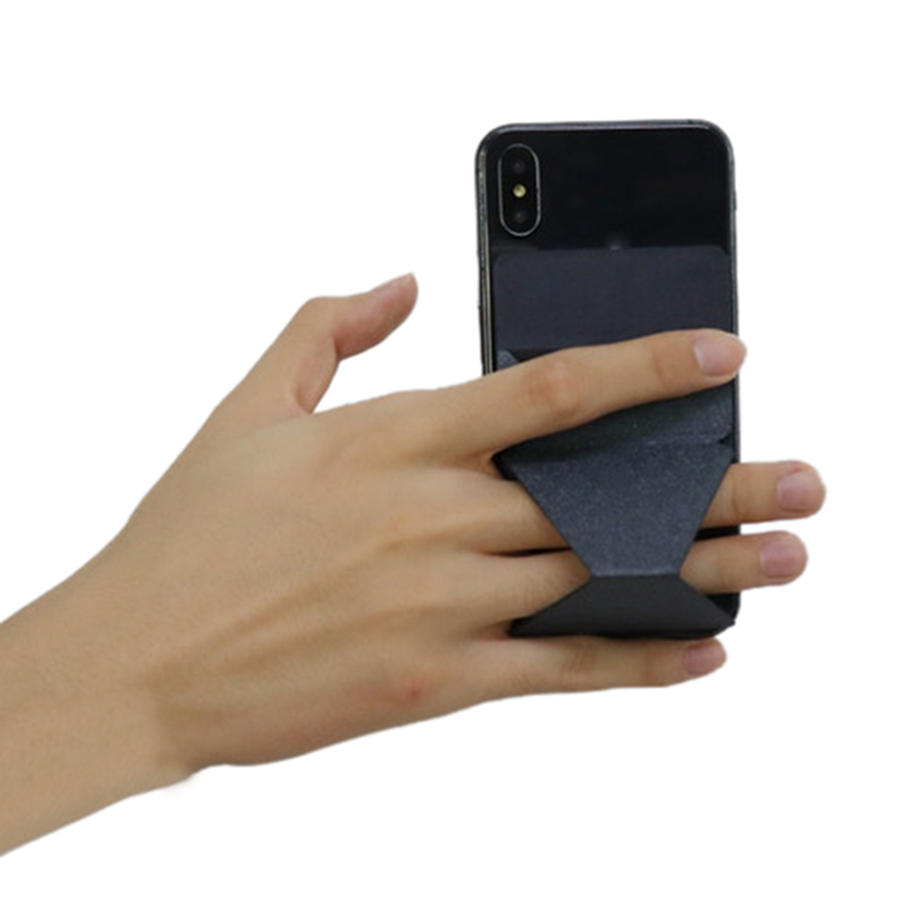 Multifunction Folding Mobile Phone Stand Holder PU leather/Fiberglass Bracket for 4.7 Inches Cellphone
