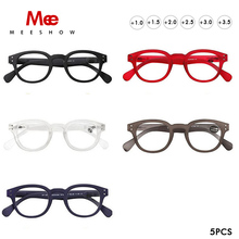 Meeshow Transparent Reading Glasses Man Retro Eye Glasses French Woman leesbril wholesales mix color mix diopter glasses 1513