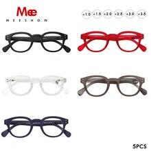 Прозрачные очки для чтения Meeshow, мужские ретро очки, французские женские очки для чтения leesbril, оптовая продажа, разные цвета, очки с диоптриями 1513