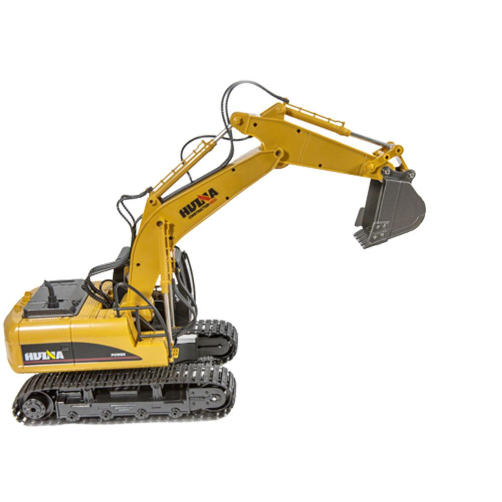 HuiNa Toys 1550 15Channel 2.4G 1/14 RC Car 680 Degree Rotation Metal Excavator Cool Sound/Light Effect Truck