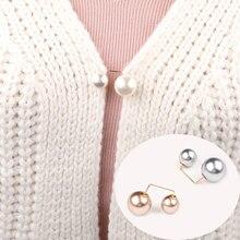 Модная жемчужная брошь, простой дизайн, брошь на пуговицах, имитация жемчуга в пальто, аксессуары для одежды, вечерние ювелирные изделия, по...