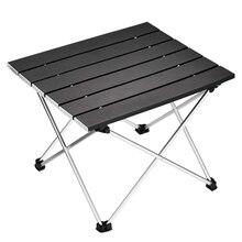 Портативный складной стол для кемпинга, алюминиевый настольный стол, подходит для пикника, барбекю, приготовления пищи, отдыха, пляжа, пешего туризма, путешествий