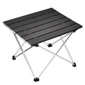 Image 1 - Tragbare Folding Camping Tisch Aluminium Schreibtisch Tisch Top Geeignet für Outdoor Picknick Grill Kochen Urlaub Strand Wandern Traveli