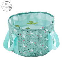2019 Portable Foldable Washbasin Travel Outdoor Foam Bag Laundry Basin Wash Foot Bucket Tarpaulin Cosmetic