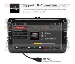 Image 5 - Android10 Auto Radio GPS Multimedia Player Für VW Volkswagen Golf Passat b7 b6 Skoda Sitz Octavia Polo Tiguan Navigation RDS 2Din