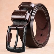 Male Belt Vintage-Style Genuine-Leather High-Quality New-Fashion Pin-Buckle Men 90-125cm