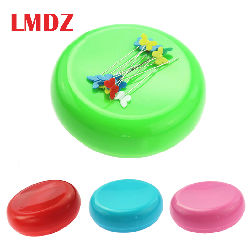 Magnetic Sewing Pin Cushion Oval Shaped Magnetic Sewing Pin Holder Sewing Needle Storage Box Dressmaking Pick Up Paperclips for Hand Sewing DIY Handmade