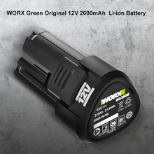 WORX Green Original 12V 2000mAh  Li-ion Battery  12V Charger Suitable for All Worx ROCKWELL 12V Products Power Tools