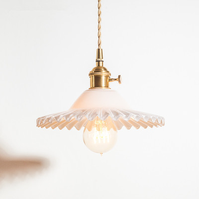 Vintage Pendant Glass Skirt Light