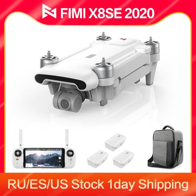 FIMI X8SE 2020 8KM FPV 3-Axis Gimbal 4K Camera RC Drone HDR Video GPS 35mins Flight Quadcopter Charging Battery RTF 1