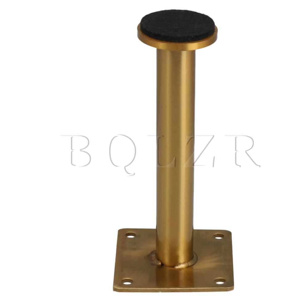 BQLZR 4 X Metal Golden Furniture Legs Feet 60x160mm For Cabinet Table Bed Sofa