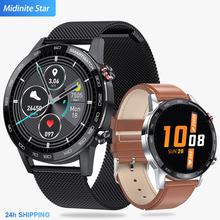 2020 nowy Microwear L16 inteligentny zegarek dla mężczyzn ekg ciśnienie krwi zegarek sportowy 360 * 360IPS IP68 wodoodporny 22mm zespół VS L13 SmartWatch tanie tanio Midnite Star Żywica 3Bar Biznes Cyfrowy Składane zapięcie z bezpieczeństwem ROUND 12mm Stoper Podświetlenie Odporny na wstrząsy