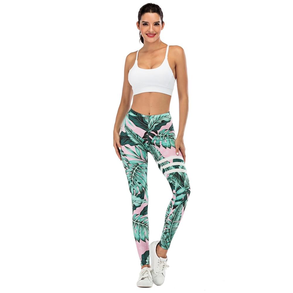 H6358f9b6b9f641ffa09e2f4e7efb8cbbs Brand Sexy Women Legging leaf Printing Fitness leggins Fashion Slim legins High Waist Leggings Woman Pants