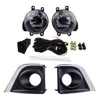 Halogen Lamp Fog Light Assembly For TOYOTA COROLLA 2014 Fog Lights Sets ABS 4300K Yellow 12V 55W Front Plating Cover