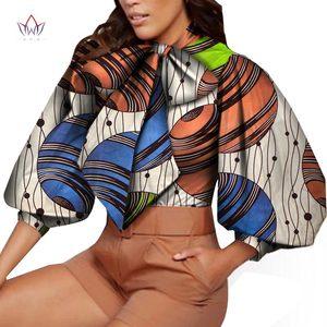 2020 Женская Осенняя рубашка с Африканским принтом Дашики, Повседневная новая рубашка, универсальные Топы WY7121