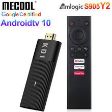 Mecool kd1 tv vara amlogic s905y2 android 10 2gb 16gb google voz certificada 1080p 4k 60pfs 2.4g & 5g wifi bt4.2 jogador de tv