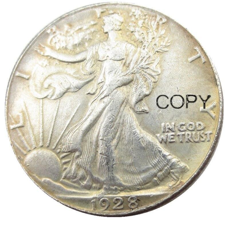 США 1928 ходьба Свобода Половина доллара посеребренные копии монет