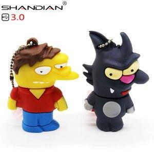 Image 4 - Shandian usb 3.0 バートシンプソンマウスウルフ 4 ギガバイト 8 ギガバイト 32 ギガバイトメモリスティックuディスクペンドライブホーマーペンドライブusbフラッシュドライブ