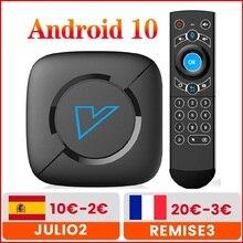 فونتار V6 الذكية صندوق التلفزيون أندرويد 10 4G 64GB دعم 4K H.265 المزدوج واي فاي BT5.0 جوجل مشغل الصوت مخزن يوتيوب مجموعة صندوق