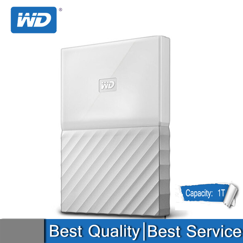 NEW Original Western Digital WD 1T 2T 4T New Element Mobile Hard Drive 2.5 Inch WDBYFT0040BWT Pure And Fresh And White