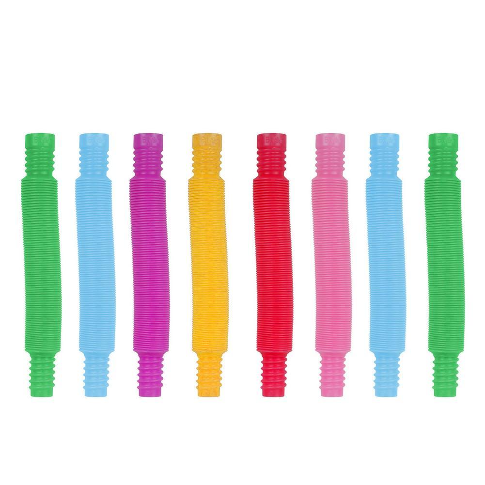 Красочная пластиковая поп-трубка, Детская креативная волшебная игрушка, забавные игрушки, развивающая складная игрушка для раннего развит...