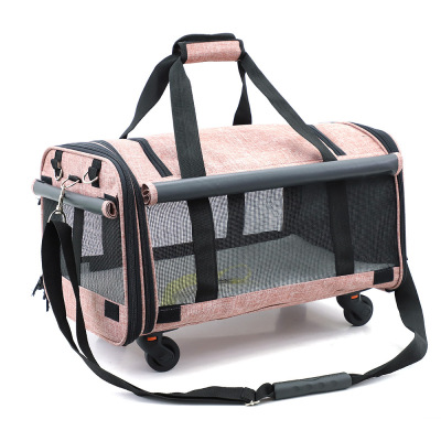 M8 Pieghevole 20 Kg di Medie E Grandi Dimensioni Pet Trolley Bag Traspirante Pet Rimorchiatore Fuori Cucciolo Gabbia Del Cane Del Gatto Traspirante Carrier - 4