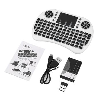 2020 New i8 Mini Wireless Keyboard 2.4ghz English Russian 3 colour Air Mouse With Touchpad Remote Control For Android TV Box t2 c wireless russian keyboard with multimedia remote control flying mouse keyboard 2 4ghz usb rechargeable android remote contr