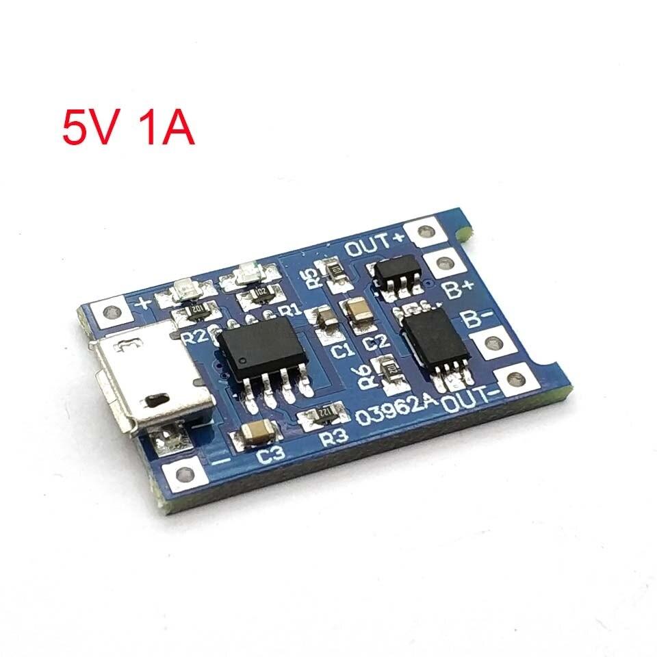 Micro USB 5V 1A 18650 TP4056 модуль зарядного устройства литиевой батареи зарядная плата с защитой двойной функции 1A li-ion