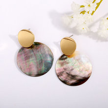 2019 natural shell earrings simple pendant geometric hanging for women gift jewelry