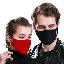 זיהום אנטי PM 2.5 פה מסכת אבק הנשמה רחיץ לשימוש חוזר מסכות כותנה יוניסקס פה הופעל פחמן מסנן מסכה