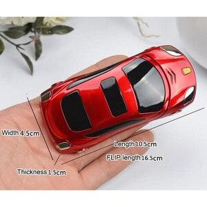 Image 3 - Newmind F15 Auto Modell Taschenlampe Dual Sim Karten Mp3 Mp4 FM Radio Recorder Flip Handy Auto Modell Mini Zelle Mobile telefon P431