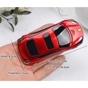 Image 3 - Newmind F15 Car Model Flashlight Dual Sim Cards Mp3 Mp4 FM Radio Recorder Flip Cellphone Car Model Mini Cell Mobile Phone P431