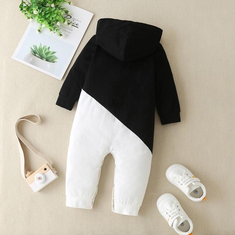 Купить детский хлопковый комбинезон с капюшоном на возраст 0 12 месяцев