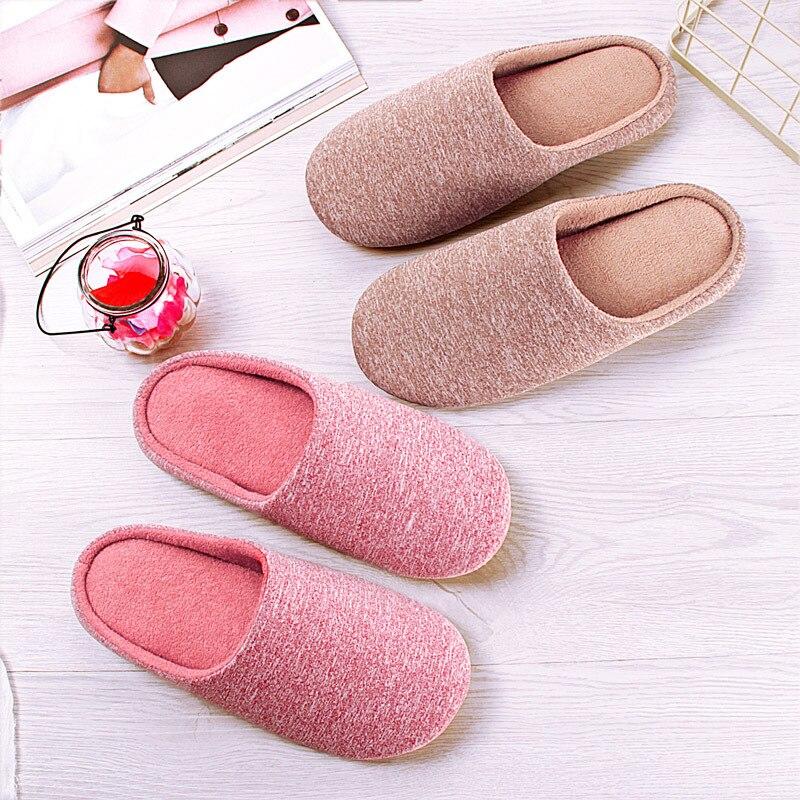 Pantofole da donna per interni invernali pantofole di cotone morbido peluche da casa scarpe da pavimento antiscivolo pantofole da casa scivoli da donna per camera da letto 2