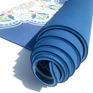Image 2 - 183*68cm TPE Suded Yoga Mat 6mm Gym Sports Fitness Exercise Pads Body Aligning Yoga Mat With Position Line Non slip Pilates Mat