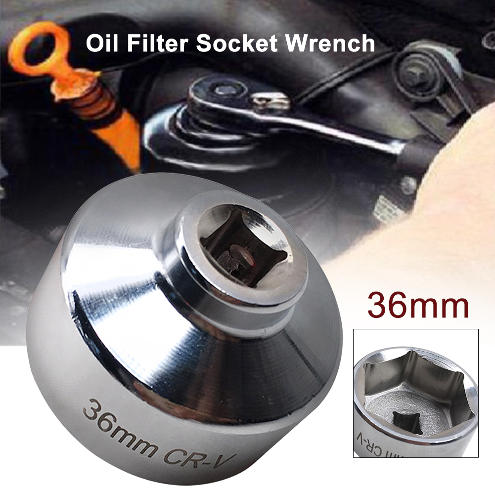36mm Universal Steels Metric Remove Canister Housing Oil Filter Wrench Cartridge Socket Wrench Mini Tools Steel