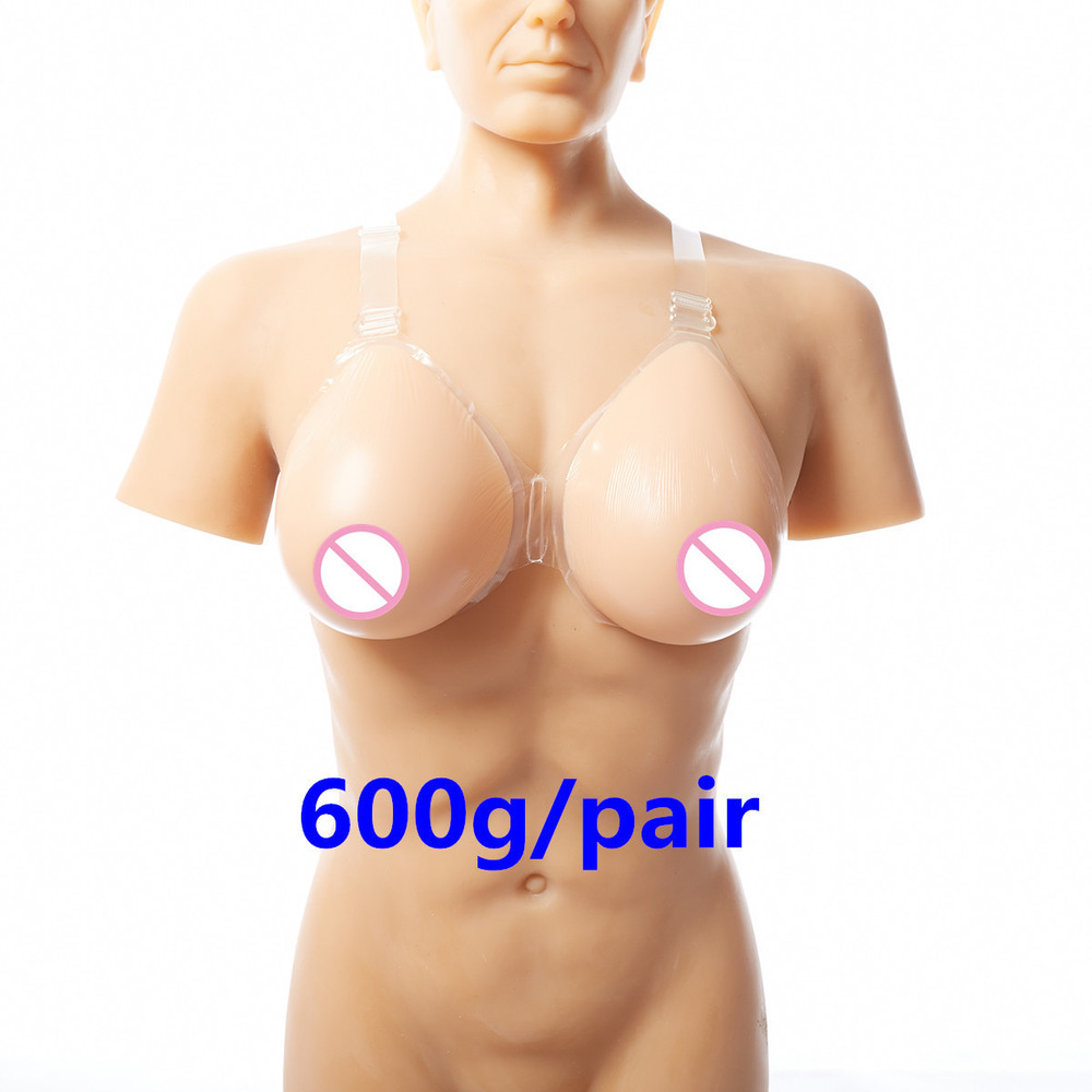 B/C Cup False Breast Artificial Silicone Breasts Chest Forms Realistic Fake Boobs Crossdresser Silicone Breast Forms