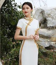 2020 Новинка весны Длинное Элегантное платье в китайском стиле