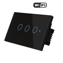 Стандарт США wifi smart touch switch app life tuya Беспроводное