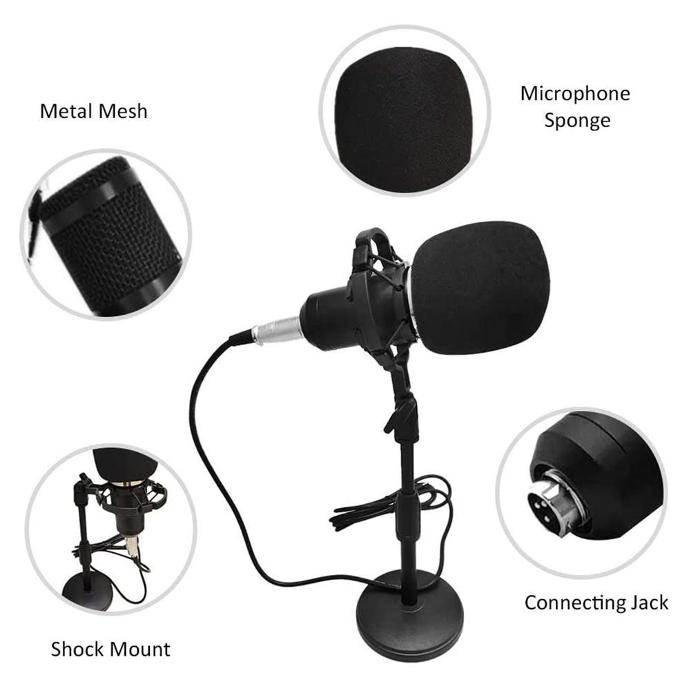 Конденсаторный микрофон с подставкой ударопрочное оборудование