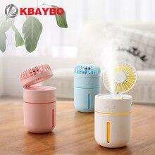 KBAYBO Portable USB Fan flexible with air diffuser Adjustable Cooler Mini Fan Handy Desk Desktop USB Cooling mist Fan humidifier